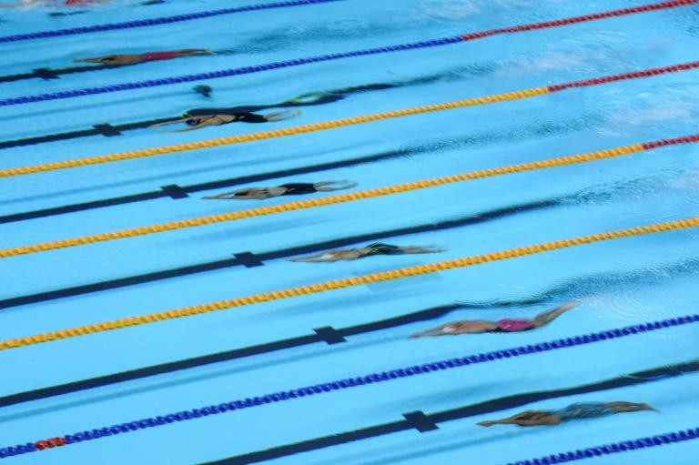 The women's 800m freestyle, 100m breaststroke and 100m butterfly as well the men's 200m butterfly, 50m freestyle and 4 x 100m medley relay will be contested at the last day of the swimming and diving competition at the 2019 SEA games (AFP Photo/TED ALJIBE)