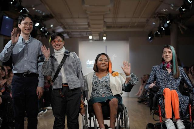 Models at the 2018 Cerebral Palsy Foundation Design for Disability show. (Photo: Richard Copier)