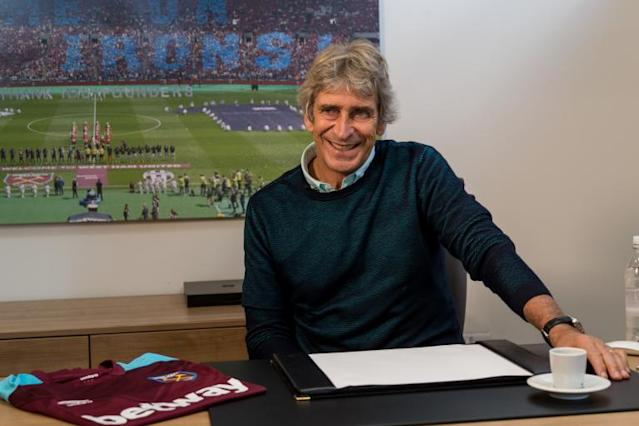 West Ham appoint Manuel Pellegrini as manager