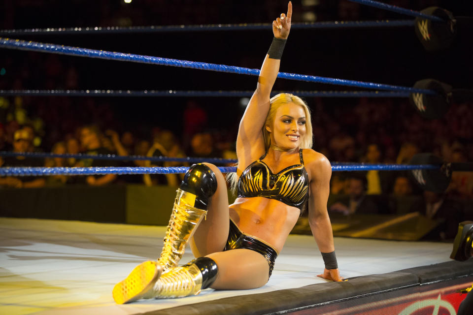 WWE superstar Mandy Rose talks about her experience in last year's first-ever women's Elimination Chamber match. (Courtesy WWE)