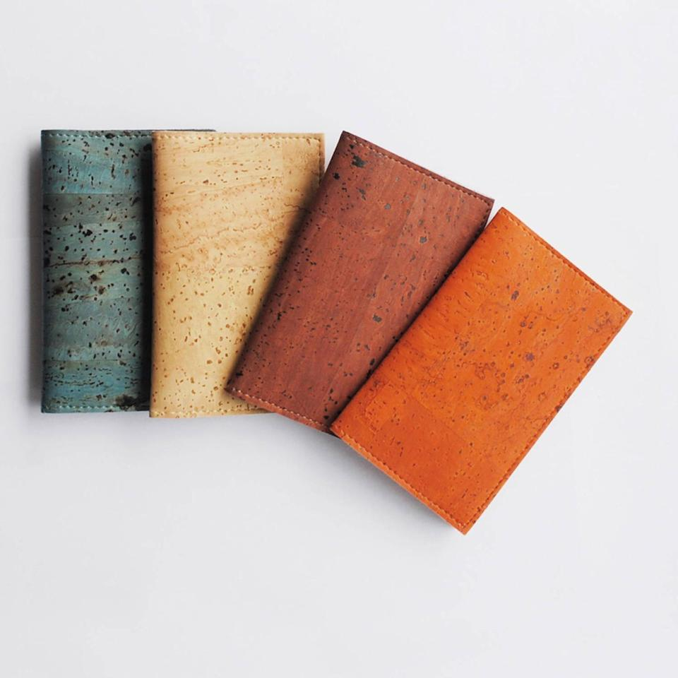 <p>This <span>Vegan Cork Leather Cardholder</span> ($25) will keep their essentials organized in style.</p>