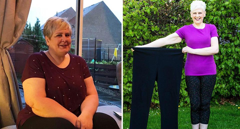 Susan Mackay went from a size 22 to a size 8.