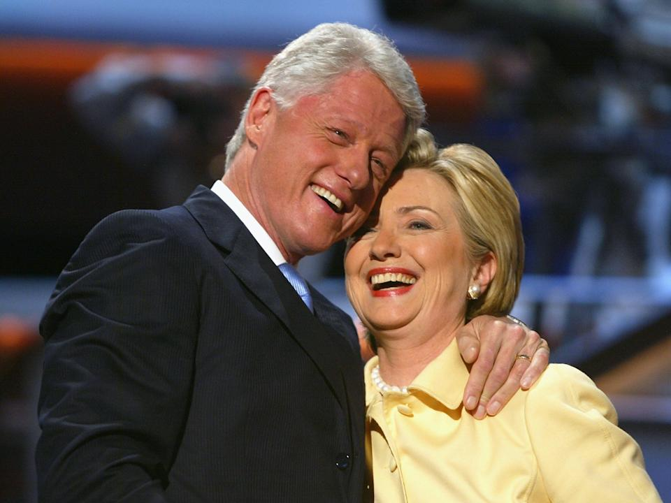 Bill and Hillary Clinton.Getty Images