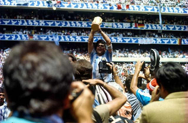 Diego Maradona led Argentina to the 1986 World Cup, which was held amid political turmoil in Mexico. (Getty)