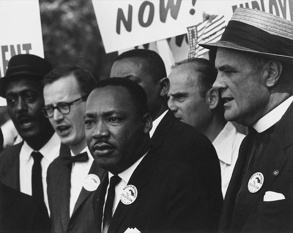"Historic civil rights leader <strong>Martin Luther King, Jr.</strong> was born in <a href=""https://www.history.com/this-day-in-history/martin-luther-king-jr-born"" rel=""nofollow noopener"" target=""_blank"" data-ylk=""slk:Atlanta, Georgia"" class=""link rapid-noclick-resp"">Atlanta, Georgia</a>. His skills as a public speaker emerged early and he was part of the debate team at <a href=""https://www.debate.nyc/martin-luther-king-debates"" rel=""nofollow noopener"" target=""_blank"" data-ylk=""slk:Booker T. Washington High School"" class=""link rapid-noclick-resp"">Booker T. Washington High School</a>. After passing an entrance exam, King started attending the prestigious <a href=""https://www.morehouse.edu/kingcollection/life.php"" rel=""nofollow noopener"" target=""_blank"" data-ylk=""slk:Morehouse College"" class=""link rapid-noclick-resp"">Morehouse College</a> at just 15 years old. Though he traveled far and wide <a href=""https://bestlifeonline.com/civil-rights-leaders/?utm_source=yahoo-news&utm_medium=feed&utm_campaign=yahoo-feed"" rel=""nofollow noopener"" target=""_blank"" data-ylk=""slk:fighting for civil rights"" class=""link rapid-noclick-resp"">fighting for civil rights</a>, Georgia was an important part of King's formative years, and his later years, too. In his legendary <a href=""https://www.archives.gov/files/press/exhibits/dream-speech.pdf"" rel=""nofollow noopener"" target=""_blank"" data-ylk=""slk:&quot;I Have a Dream&quot; speech"" class=""link rapid-noclick-resp"">""I Have a Dream"" speech</a>, King said: ""I have a dream that one day on the red hills of Georgia the sons of former slaves and the sons of former slave owners will be able to sit down together at the table of brotherhood."""