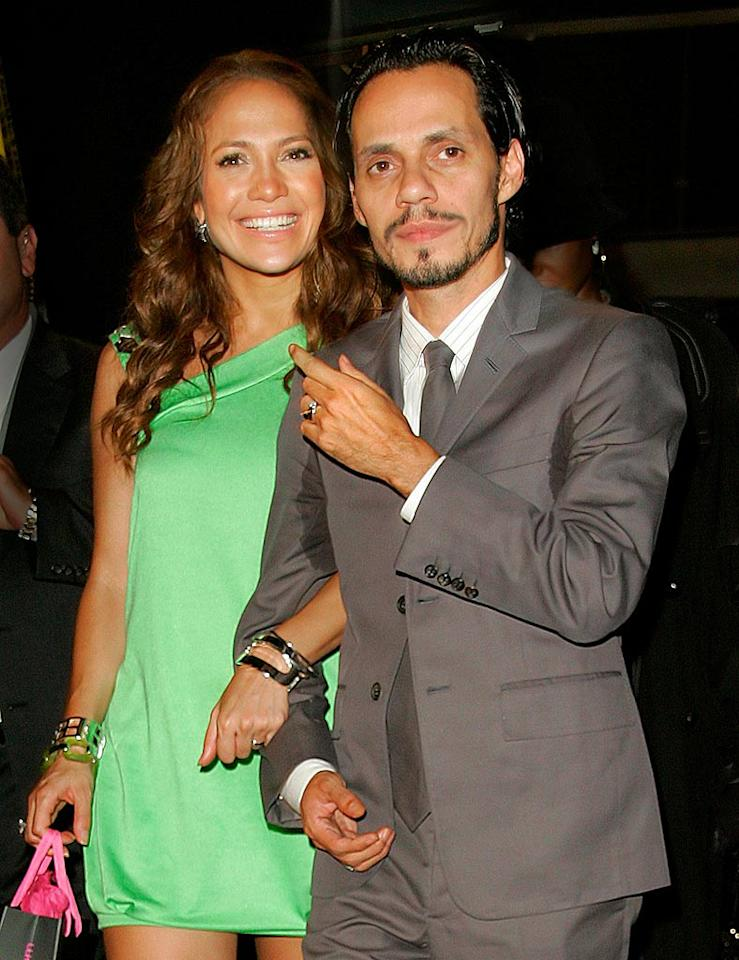 """It took Jennifer Lopez two divorces and a broken engagement to find true love with Marc Anthony, and she hasn't let him go since. Jackson Lee/Ahmad Elatab/<a href=""""http://www.splashnewsonline.com/"""" target=""""new"""">Splash News</a> - September 11, 2007"""