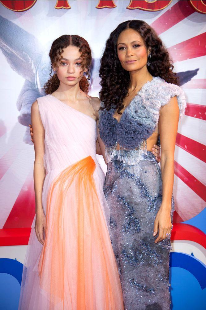 Nico Parker and Thandie Newton at the London premiere of Dumbo | Matt Crossick/PA Images via Getty Images
