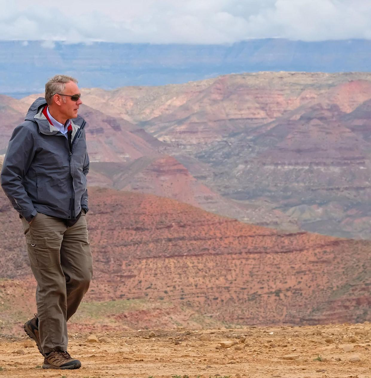 Secretary of the Interior Ryan Zinke during a tour of Grand Staircase-Escalante National Monument in May 2017. (Photo: Doi/Planet Pix via ZUMA Wire)