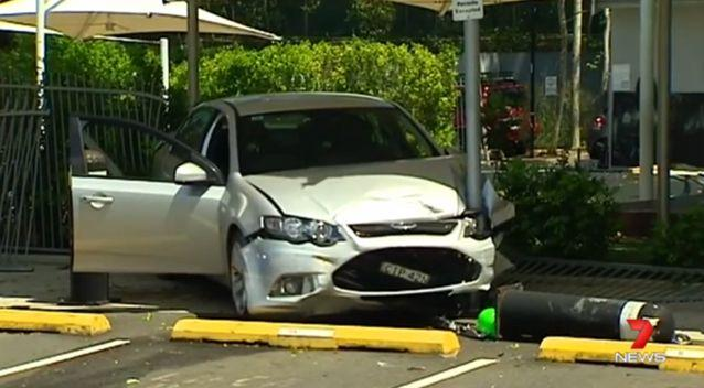 The driver is in hospital under observation after the crash. Photo: 7 News
