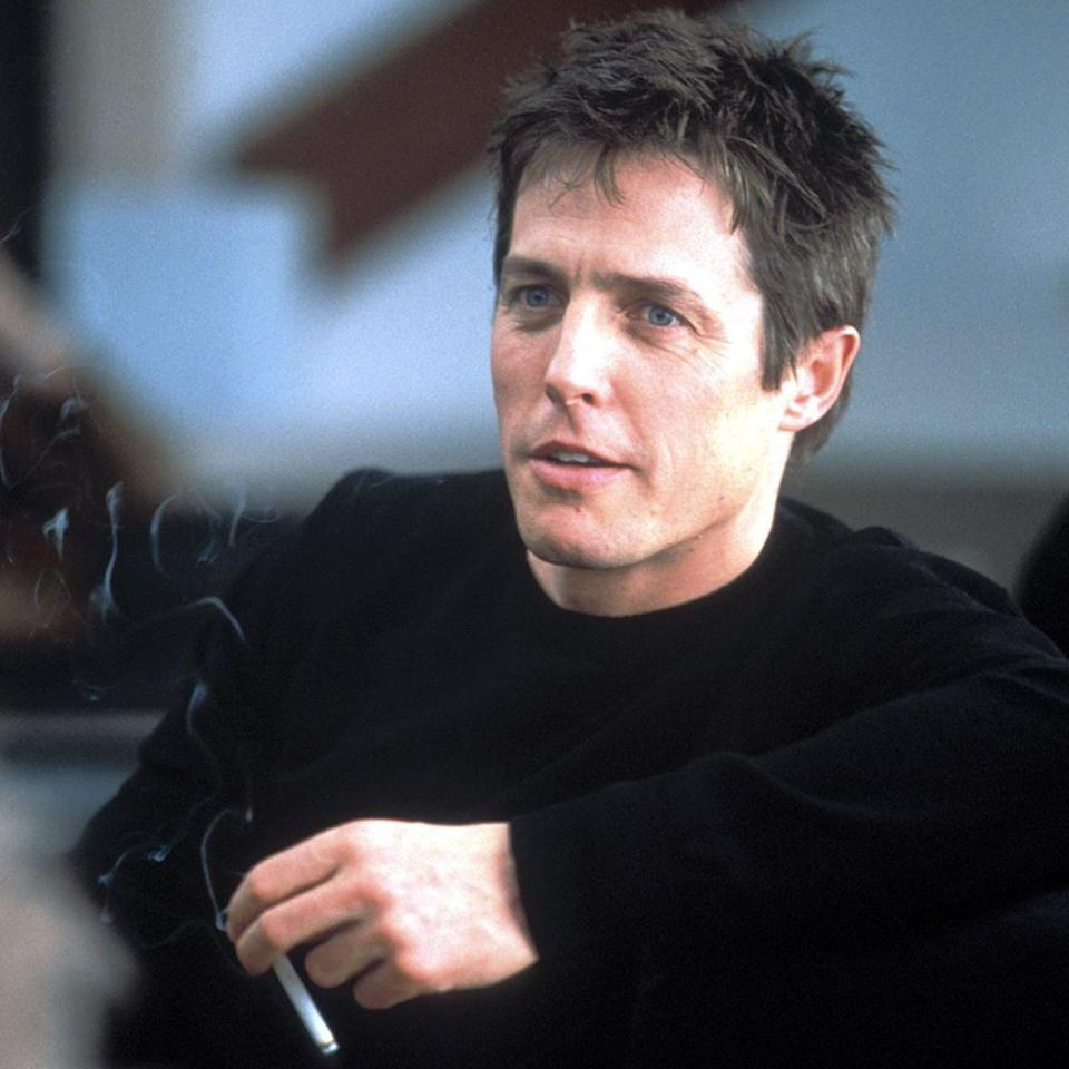 """<p>In the 2002 adaption of Nick Hornby's beloved novel, Grant plays a responsibility-ridden bachelor who forms a unique friendship with a teenage boy who ends up teaching him more about life, love, and relationships than any adult could. Aside from the plot, the film centers on Grant's early-aughts wardrobe full of snug knit sweaters and sporty bomber jackets, which adds to his character's """"hot potential dad"""" appeal. </p><p><a class=""""link rapid-noclick-resp"""" href=""""https://www.amazon.com/gp/video/detail/amzn1.dv.gti.94a9f759-6a00-bd69-4c5f-0df949989741?autoplay=1&ref_=atv_cf_strg_wb&tag=syn-yahoo-20&ascsubtag=%5Bartid%7C10056.g.34990725%5Bsrc%7Cyahoo-us"""" rel=""""nofollow noopener"""" target=""""_blank"""" data-ylk=""""slk:WATCH NOW"""">WATCH NOW</a></p>"""