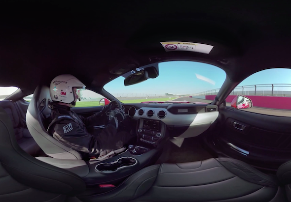 Experience a hot lap of Silverstone in a Ford Mustang V8