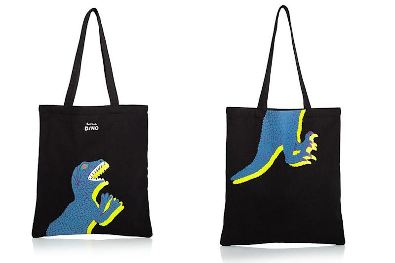 "<i>Buy it from <a href=""https://www.bloomingdales.com/shop/product/paul-smith-dino-tote?ID=2638995"" target=""_blank"">Bloomingdale's</a> for $75.</i>"