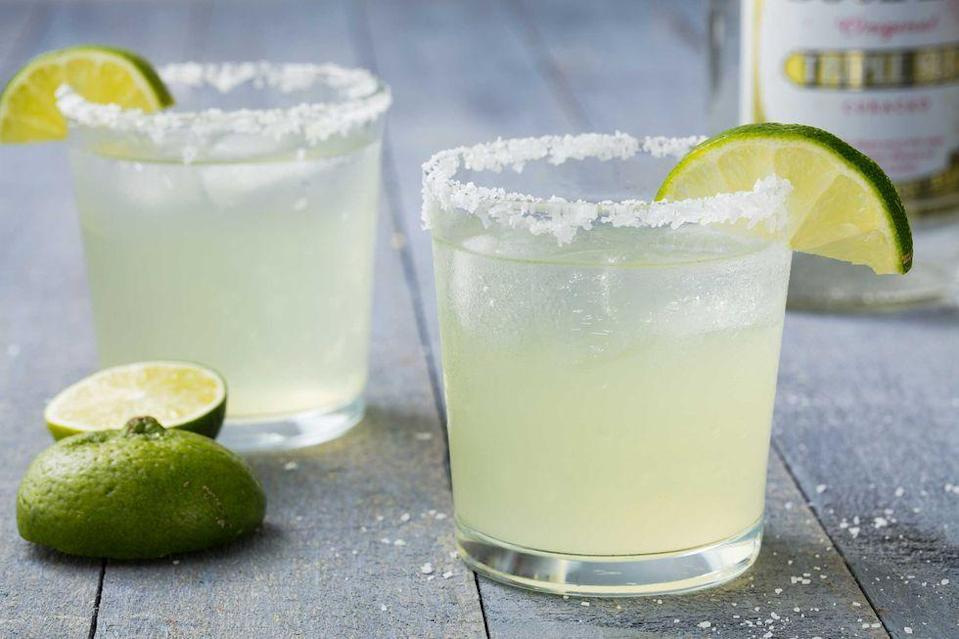 """<p>What's a plate of Keto tacos without a Keto margarita to match? <a href=""""https://www.verywellfit.com/sugar-free-margaritas-2241686"""" rel=""""nofollow noopener"""" target=""""_blank"""" data-ylk=""""slk:This one"""" class=""""link rapid-noclick-resp"""">This one</a> uses lime juice, orange extract, and sugar substitute to give it that classic 'rita flavor.</p>"""