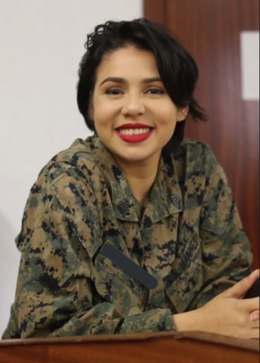A Marine who came forward in a viral TikTok video describing her alleged sexual assault now has a website asking others to share their stories. / Credit: via Not Your Reality
