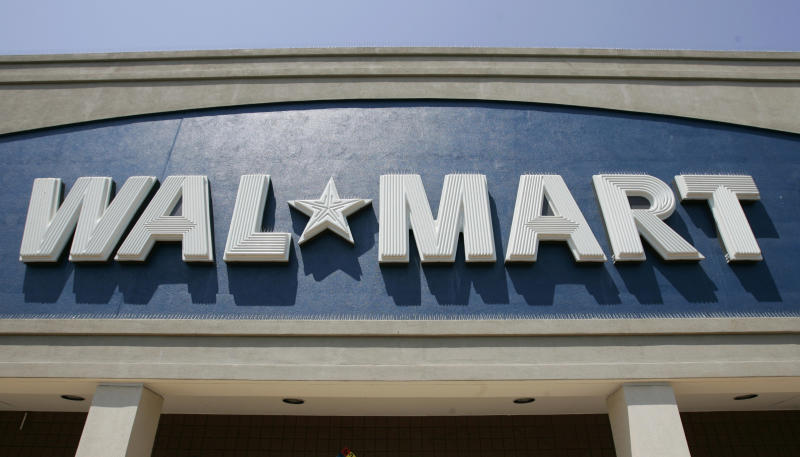 Exterior of Walmart in San Jose, Calif., Wednesday, Aug. 13, 2008. Wal-Mart Stores said Thursday, profit rose 17 percent in the second quarter and is raising its full-year forecast as the world's largest retailer benefits from low prices that are attracting shoppers in a challenging economy, and its moves to cut costs. (AP Photo/Paul Sakuma)