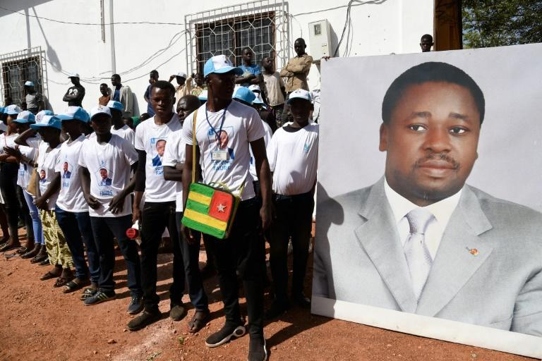 Support: President Faure Gnassingbe seems on track for victory in Saturday's elections in Togo -- his family has ruled the country since 1967 (AFP Photo/PIUS UTOMI EKPEI)