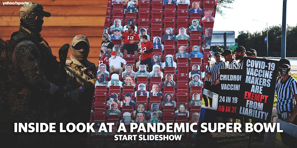 Super Bowl LV pandemic images