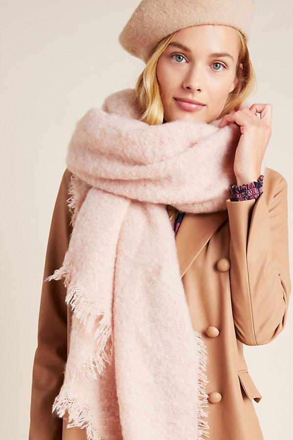 Carraway Boucle Fringed Scarf