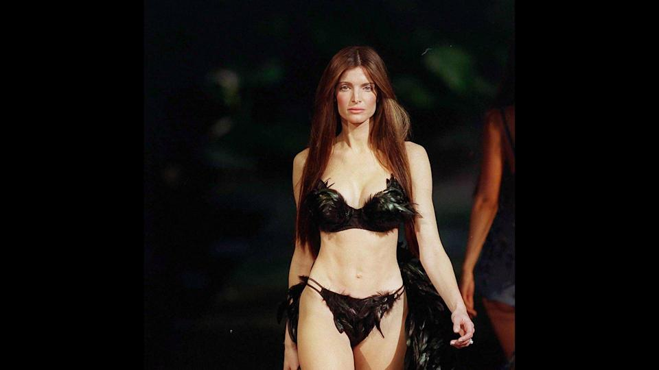 <p>Iconic supermodel Stephanie Seymour walked the Victoria's Secret runway from 1995 to 2000, and was an Angel for the last four years of her VS career. Seymour also appeared in the Sports Illustrated Swimsuit issue and in Playboy. In 2017, Seymour launched her own lingerie line, Raven & Sparrow, available at Barneys New York.</p>