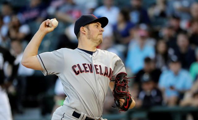 "<a class=""link rapid-noclick-resp"" href=""/mlb/players/9122/"" data-ylk=""slk:Trevor Bauer"">Trevor Bauer</a> has posted 214 strikeouts so far this season and even more tweets. (AP Photo)"