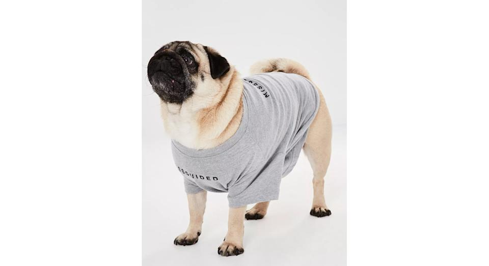 Grey Missguided Branded Dog T-Shirt