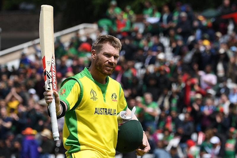 Australia's David Warner has scored two centuries at the Cricket World Cup (AFP Photo/Paul ELLIS)