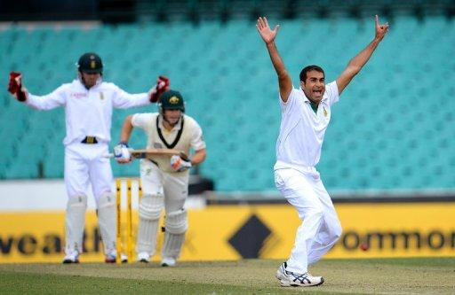 Imran Tahir finished with two for 157 off 40 overs in the drawn tour match against Australia