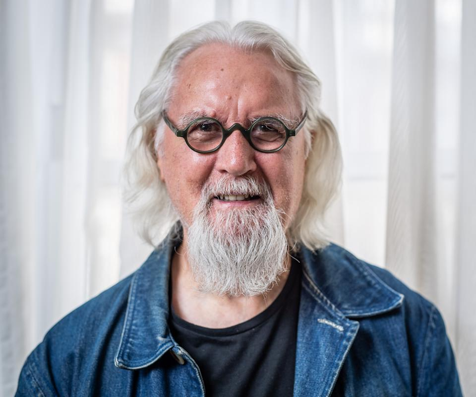 Billy Connolly photographed after an interview with the Press Association at the Westbury Mayfair Hotel, London, United Kingdom. 29th July 2019
