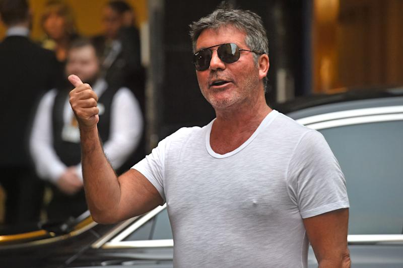 Simon Cowell arrives at Britain's Got Talent auditions at the London Palladium.