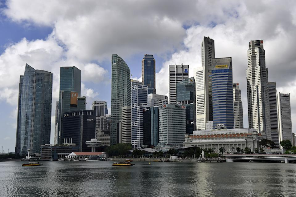 This picture taken on January 2, 2019 shows the skyline of the financial business district in Singapore. (Photo by Roslan RAHMAN / AFP)        (Photo credit should read ROSLAN RAHMAN/AFP via Getty Images)