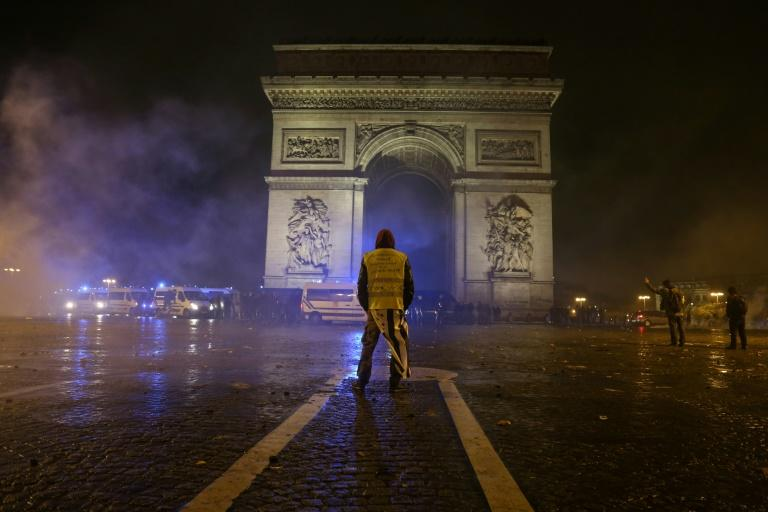 Police detained a total of 412 people during the worst clashes in decades in the centre of Paris