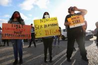 """FILE PHOTO: Rally for """"Justice Everywhere"""" to celebrate the U.S. Supreme Court's ruling to disallow the rescinding of the DACA program, in San Diego"""