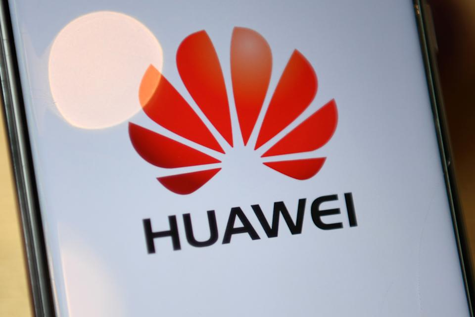 The logo of Chinese company Huawei is seen on the screen of a Huawei mobile phone in London on July 14, 2020. - Britain on Tuesday ordered its telecom providers to stop purchasing 5G equipment from China's Huawei giant from the start of next year, and to strip out all of its equipment by 2027. (Photo by DANIEL LEAL-OLIVAS / AFP) (Photo by DANIEL LEAL-OLIVAS/AFP via Getty Images)
