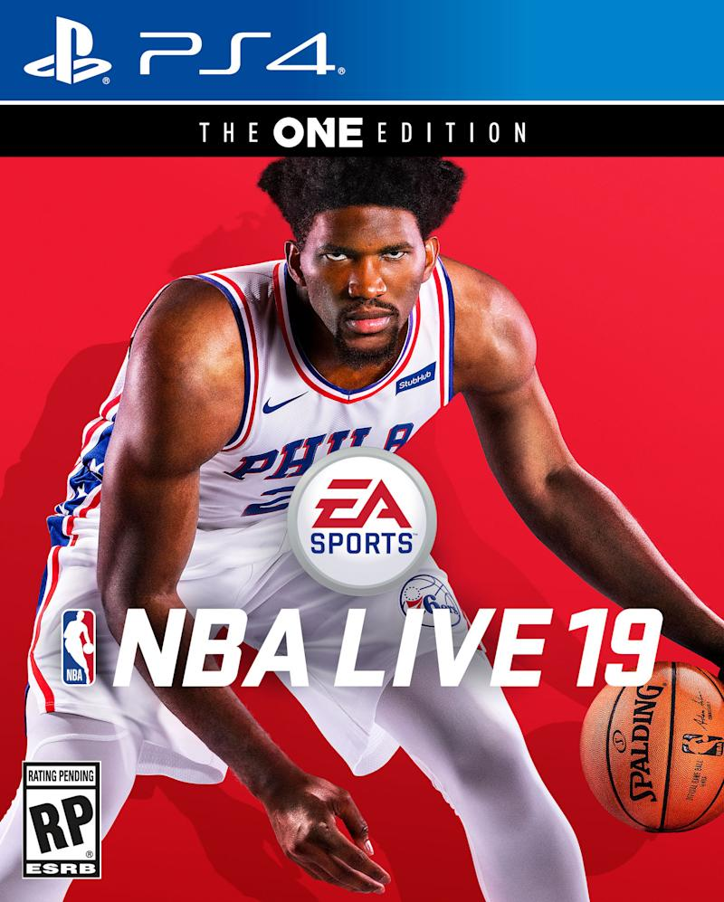 Joel Embiid Lands Ea Sports Nba Live 19 Cover Prepares To Take On