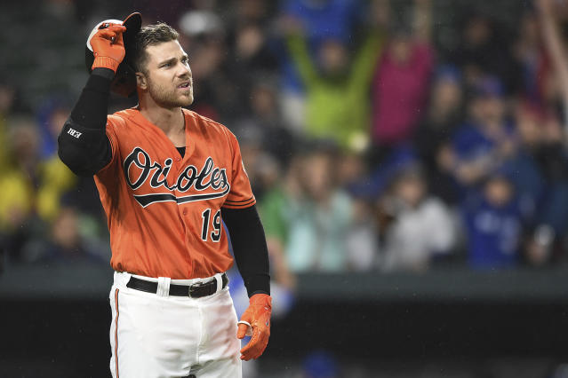 Chris Davis' struggles with contact have limited his upside the past two seasons. (AP Photo/Gail Burton)
