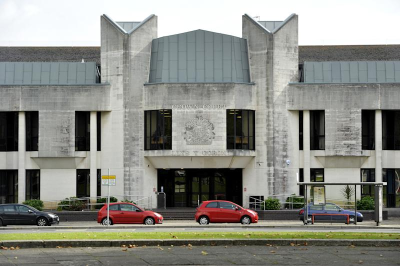 A general view of Swansea Crown Court in Swansea, south Wales.