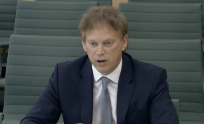 Grant Shapps told the transport committee the government is planning a memorial for transport workers who died during the pandemic. (Parliamentlive.tv)