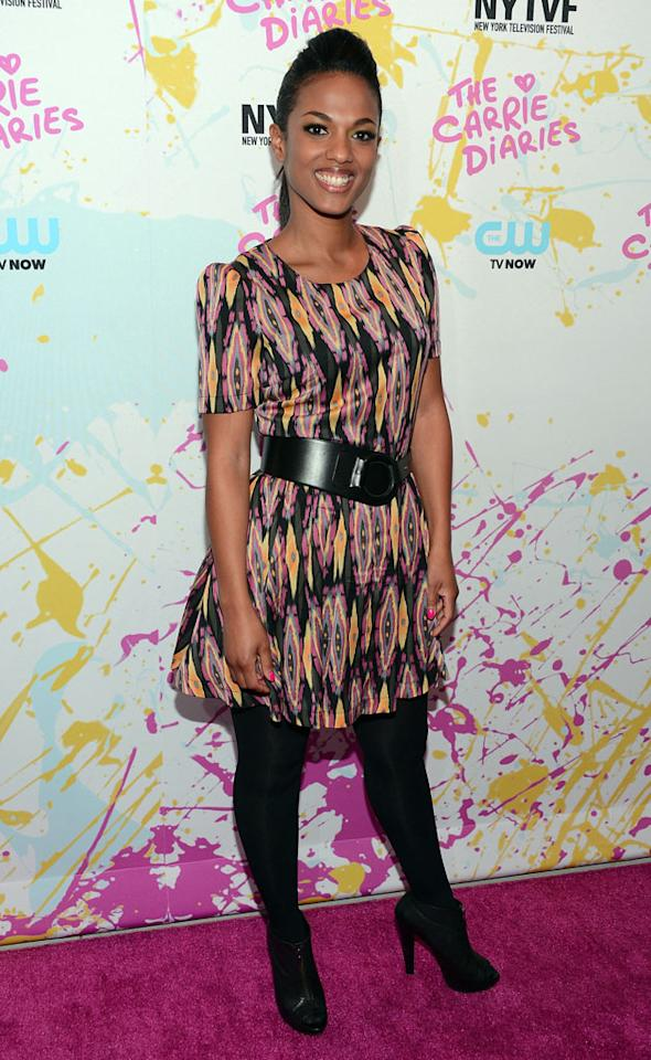 "Freema Agyeman attends ""The Carrie Diaries"" Premiere during the 2012 New York Television Film Festival at SVA Theater on October 22, 2012 in New York City."