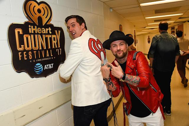 <p>Remy (BIG 95.5) and DJ Sinister attends the 2017 iHeartCountry Festival, A Music Experience by AT&T at The Frank Erwin Center on May 6, 2017 in Austin, Texas. (Photo: Rick Kern) </p>
