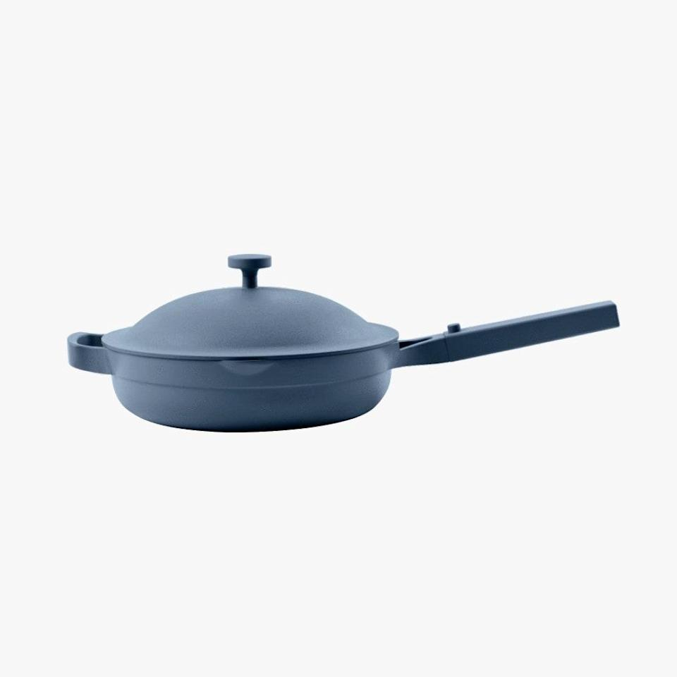 """$145, FROM OUR PLACE. <a href=""""https://fromourplace.com/products/always-essential-cooking-pan"""" rel=""""nofollow noopener"""" target=""""_blank"""" data-ylk=""""slk:Get it now!"""" class=""""link rapid-noclick-resp"""">Get it now!</a>"""