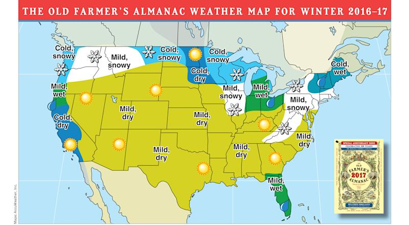 Here's How Accurate the Farmer's Almanac Weather Predictions