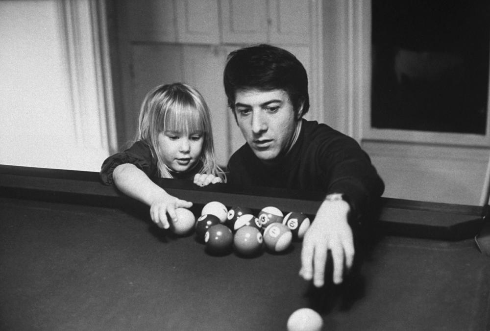 "Dustin Hoffman with his daughter Karina, 1969. <br><br><br><a href=""http://life.time.com/news/fathers-day-special-life-with-famous-dads/#1"">Click here</a> to see the full collection at LIFE.com…"