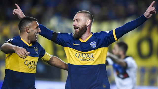 On debut for Boca Juniors, Daniele De Rossi opened the scoring against Almagro in the Copa Argentina.