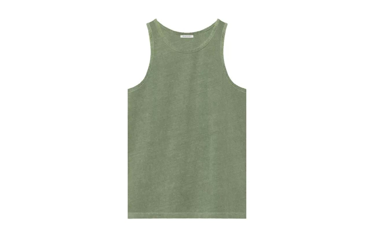"$78, John Elliott. <a href=""https://www.johnelliott.com/products/rugby-tank-spruce?variant="">Get it now!</a>"