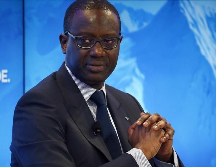 Thiam CEO of the Credit Suisse bank attends the WEF annual meeting of the Forum in Davos