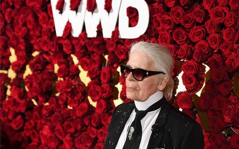 Designer Karl Lagerfeld attends the 2017 WWD Honors at the Pierre Hotel on October 24, 2017 in New York City - Credit: AFP/ANGELA WEISS