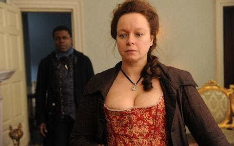 Samantha Morton in Harlots - Credit: Liam Daniel/ITV Picture Desk