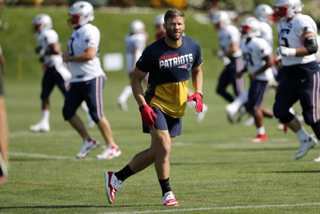 New England's receiving corps is marked by equal parts question marks and upside. (Getty)