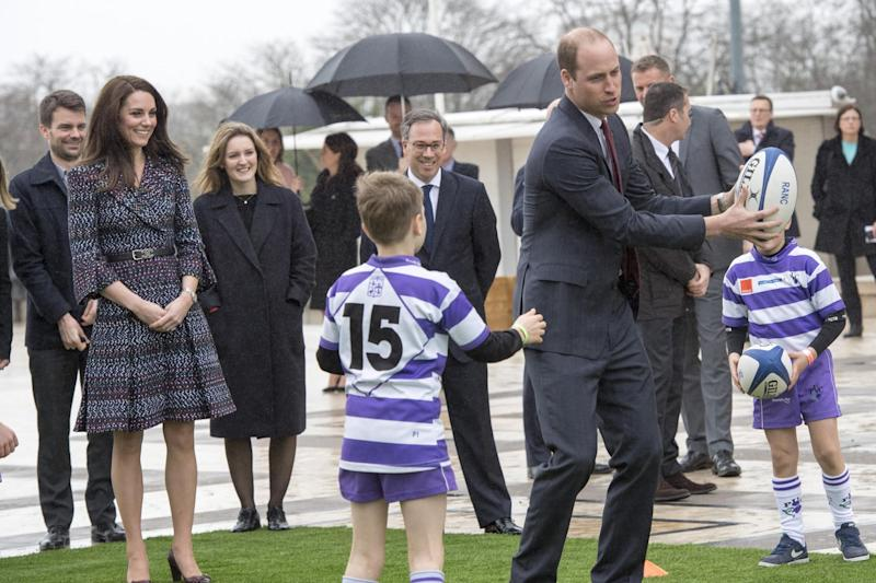 Rugby: William and Kate in Paris: Getty Images
