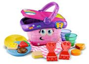 <p>Help your little one learn about shapes and colors by playing with this <span>LeapFrog Shapes and Sharing Picnic Basket</span> ($21). Kids can sort, match, stack, empty, and fill the contents of the basket. </p>